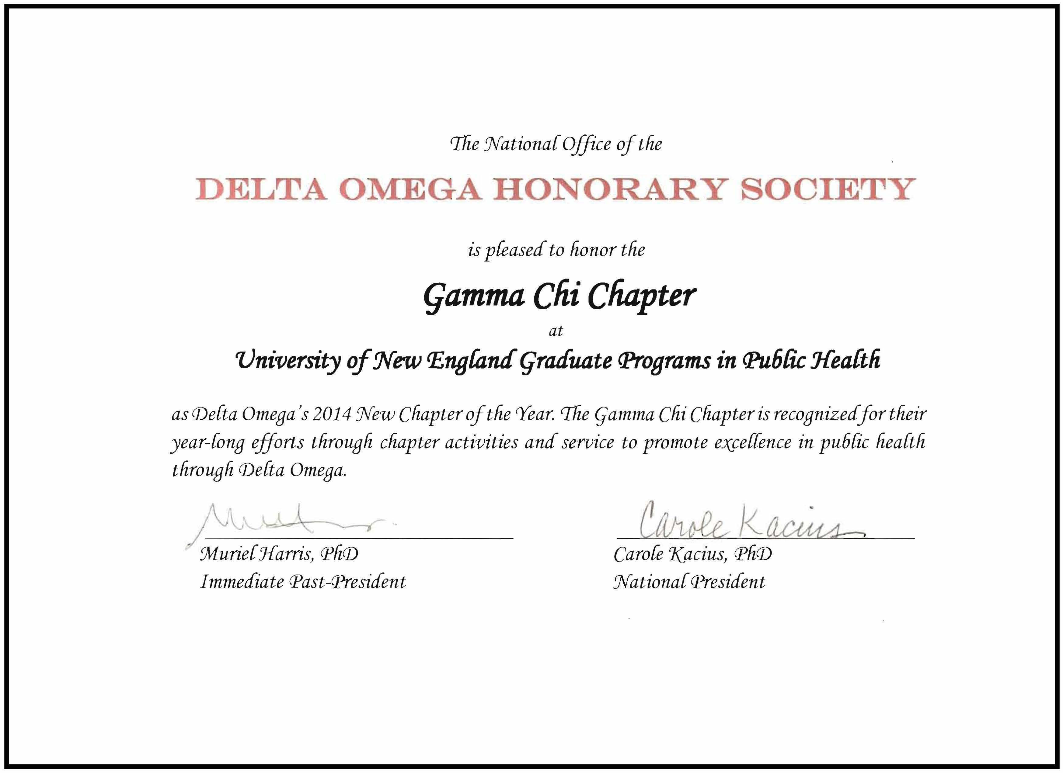 Delta Omega Honorary Society In Public Health Une Online Une