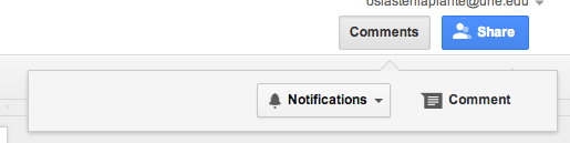 notifications from google docs