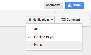 Notifications. All replies to you. None