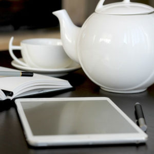 iPad and teapot