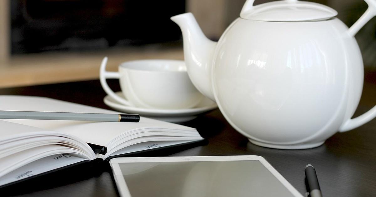 iPad and teapot