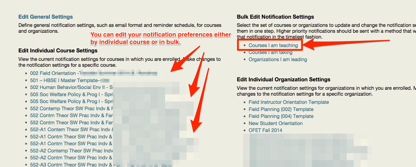 edit notification settings