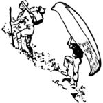 canoe line drawing