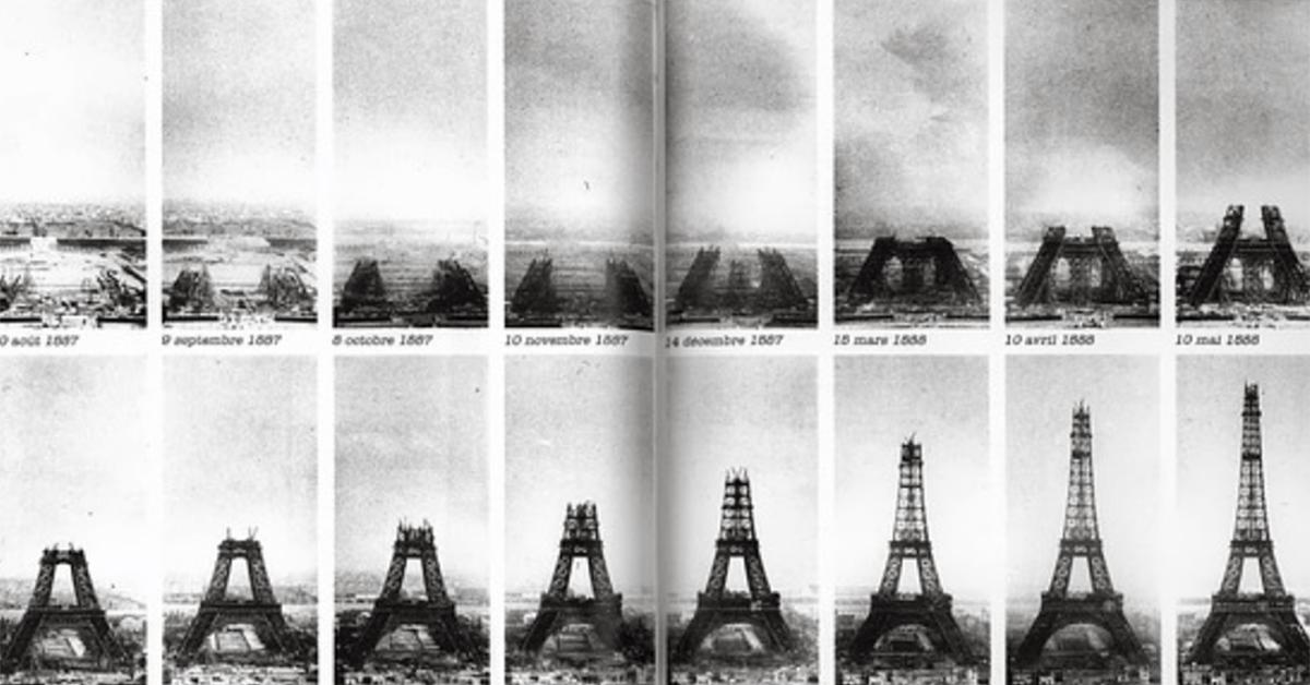 Timeline of construction of Eifel