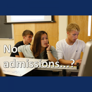 UNE classes with no admissions