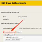 Edit Group Set Enrollments - New Student Orientation