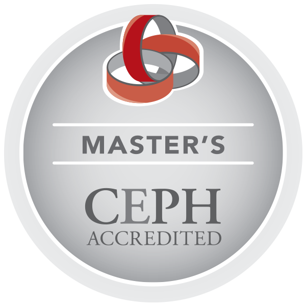 Badge that says Master's CEPH Accredited