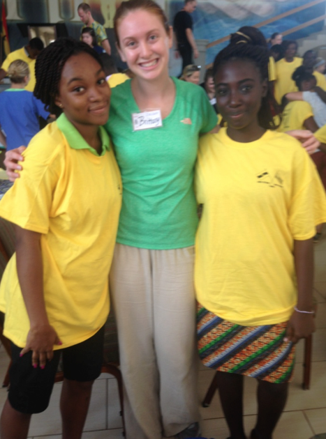 Brittany Roy, center, UNE MPH candidate, 2015