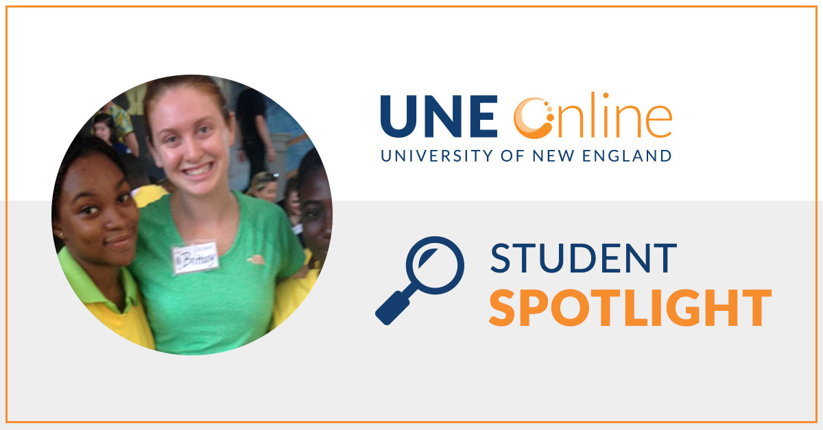 Brittany Roy, UNE MPH candidate, 2015