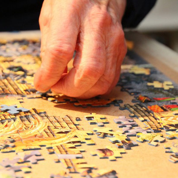 putting together a jigsaw