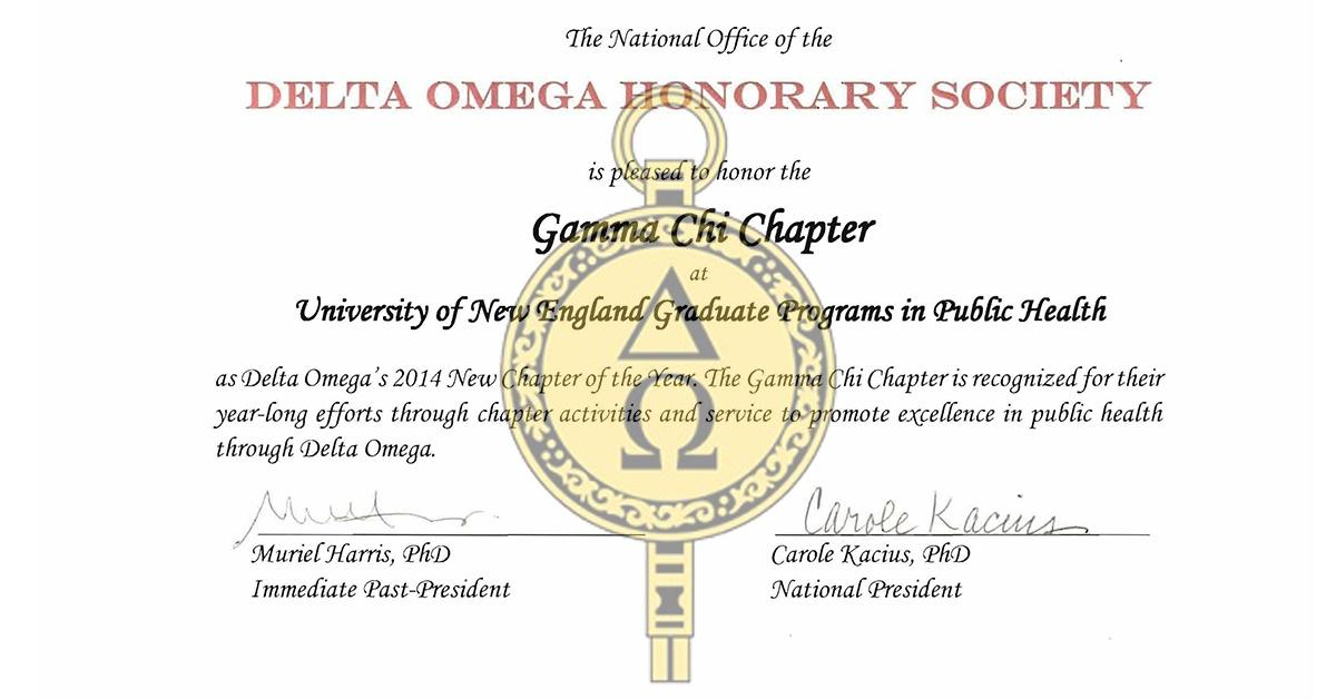 Gamma Chi New inductees