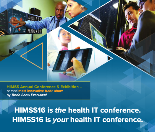 HIMSS 2016 exhibit and conference
