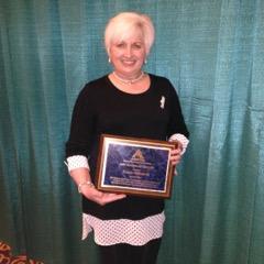 Karen Aldworth with award