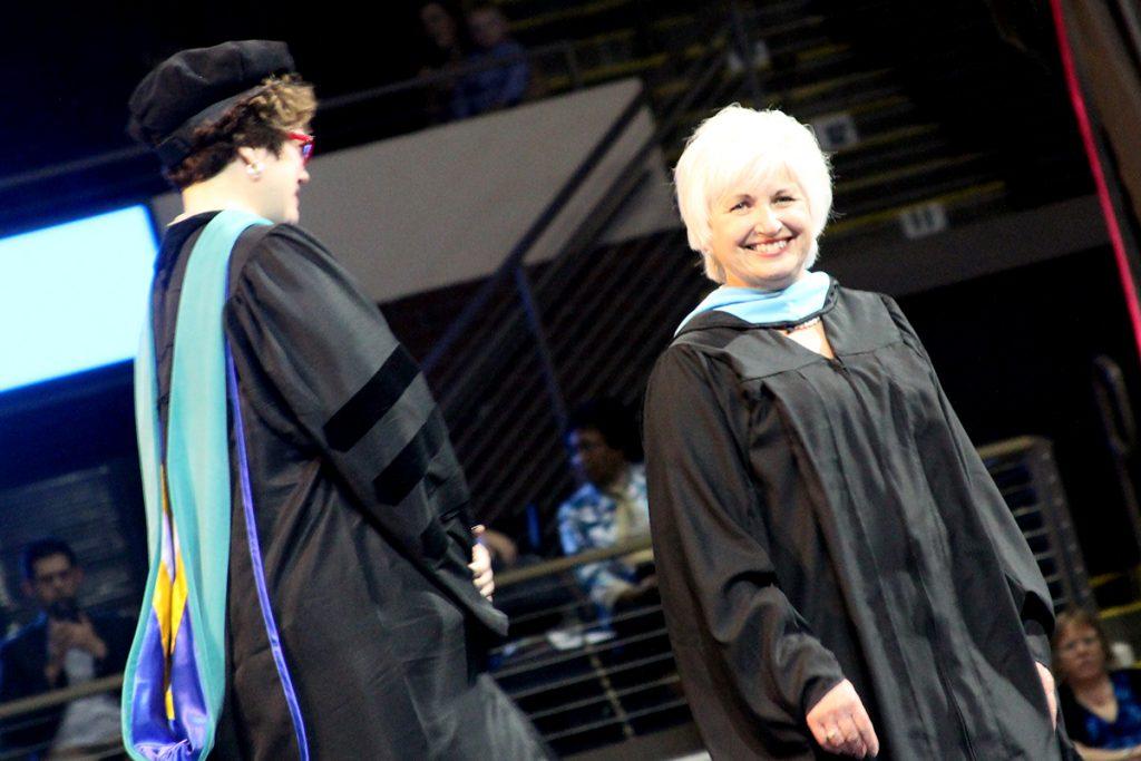 Karen Aldworth in robe