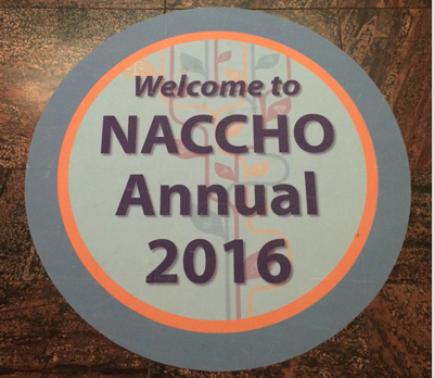 NACCHO Public health conference floor sign