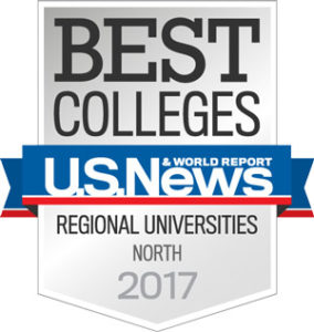 "The University of New England is honored to be included among the ""Best Regional Universities North"" by U.S. News & World Report for 2017."