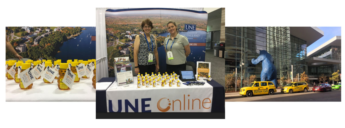 APHA booth for UNE