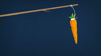 Carrot and stick motivation