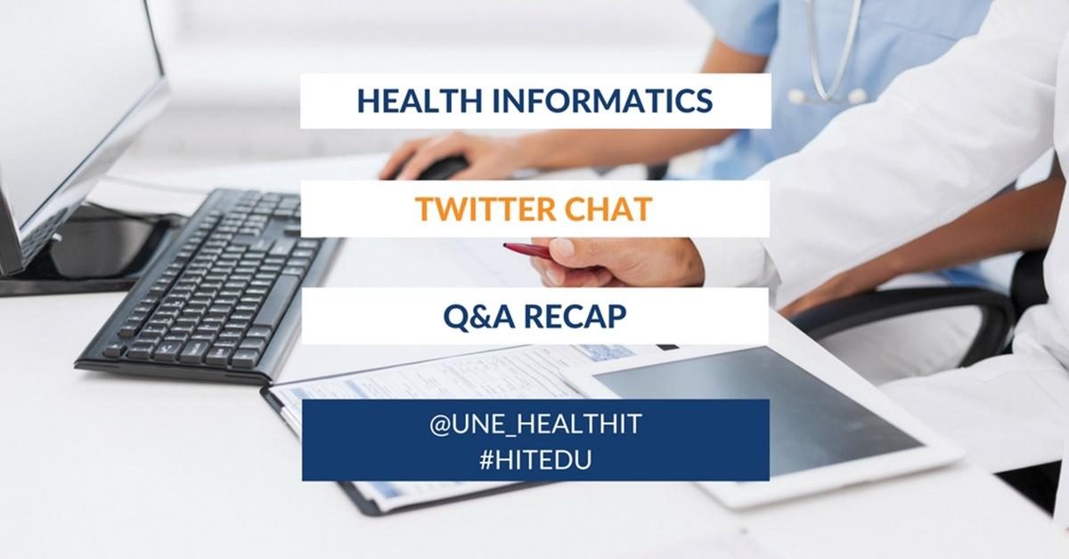 Health Informatics Twitter Chat Recap