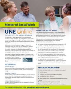 Master of Social Work flyer