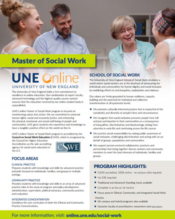 Master of Social Work flyer