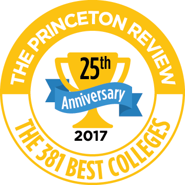 Princeton Review 381 Best Colleges 25th