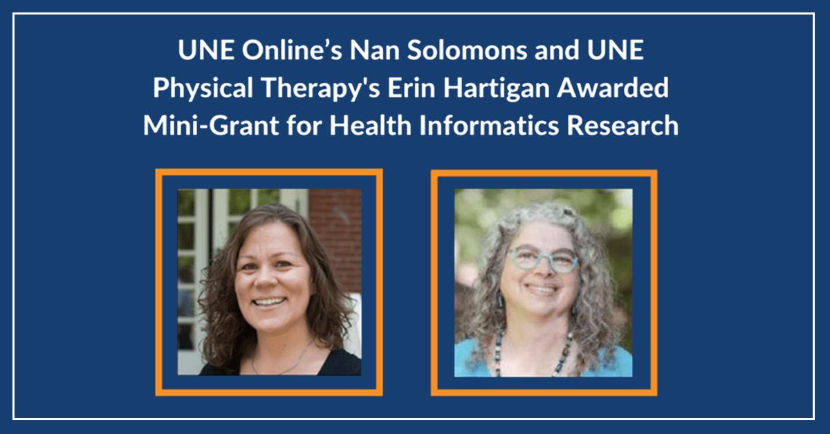UNE Online's Nan Solomons Awarded Mini-Grant for Health Informatics Research