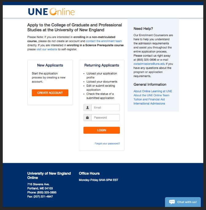 Application for Graduate School