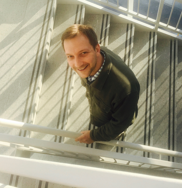 Zack York in Innovation Hall