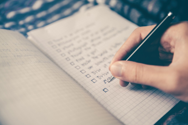 Checklist for testing systems