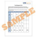 Sample study schedule