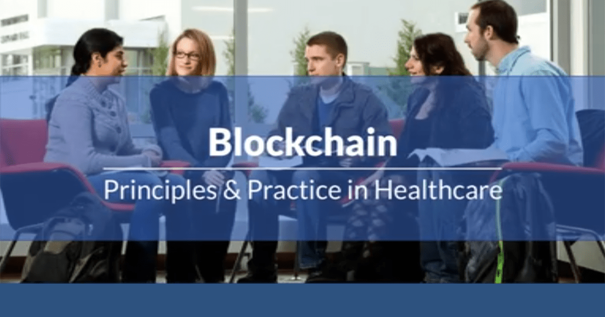 Still from the blockchain webinar showing students conversing with each other in a circle of chairs