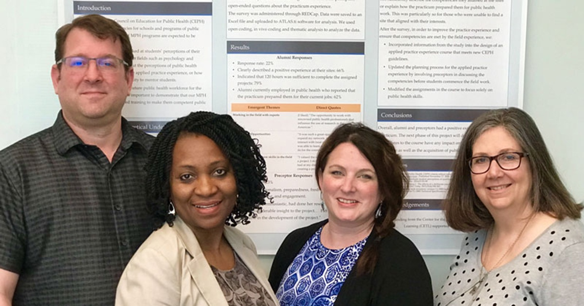 CGPS Staff Faculty with with the poster results of their CETL mini-grant-funded research project