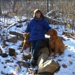 Judith Boudman and her dogs