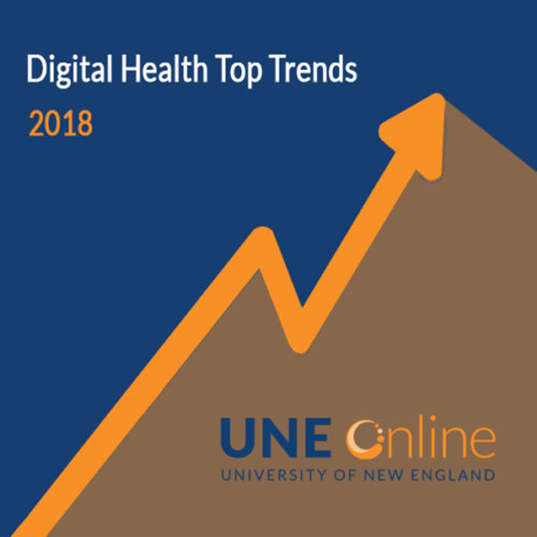 Graphic with rising arrow to depict emerging health information technology