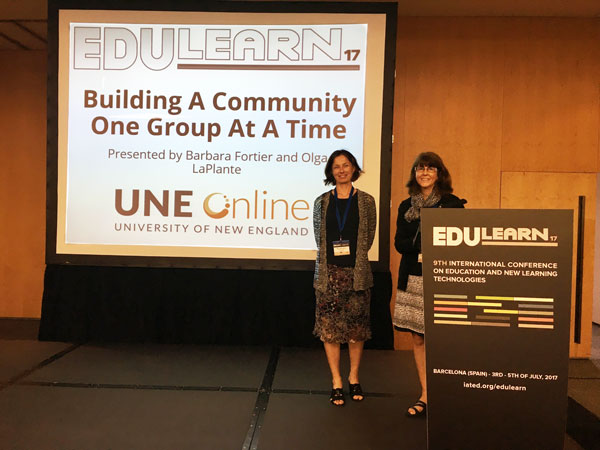 Olga LaPlante and Barbara Fortier copresenting at EDULEARN