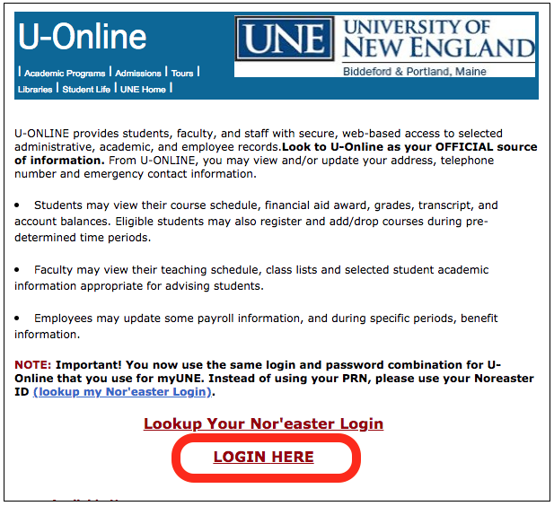 Fill in your Nor'easter ID (just the first part of your email address) and your password