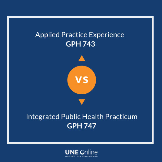 Difference between Applied Practice Experience vs Practicum