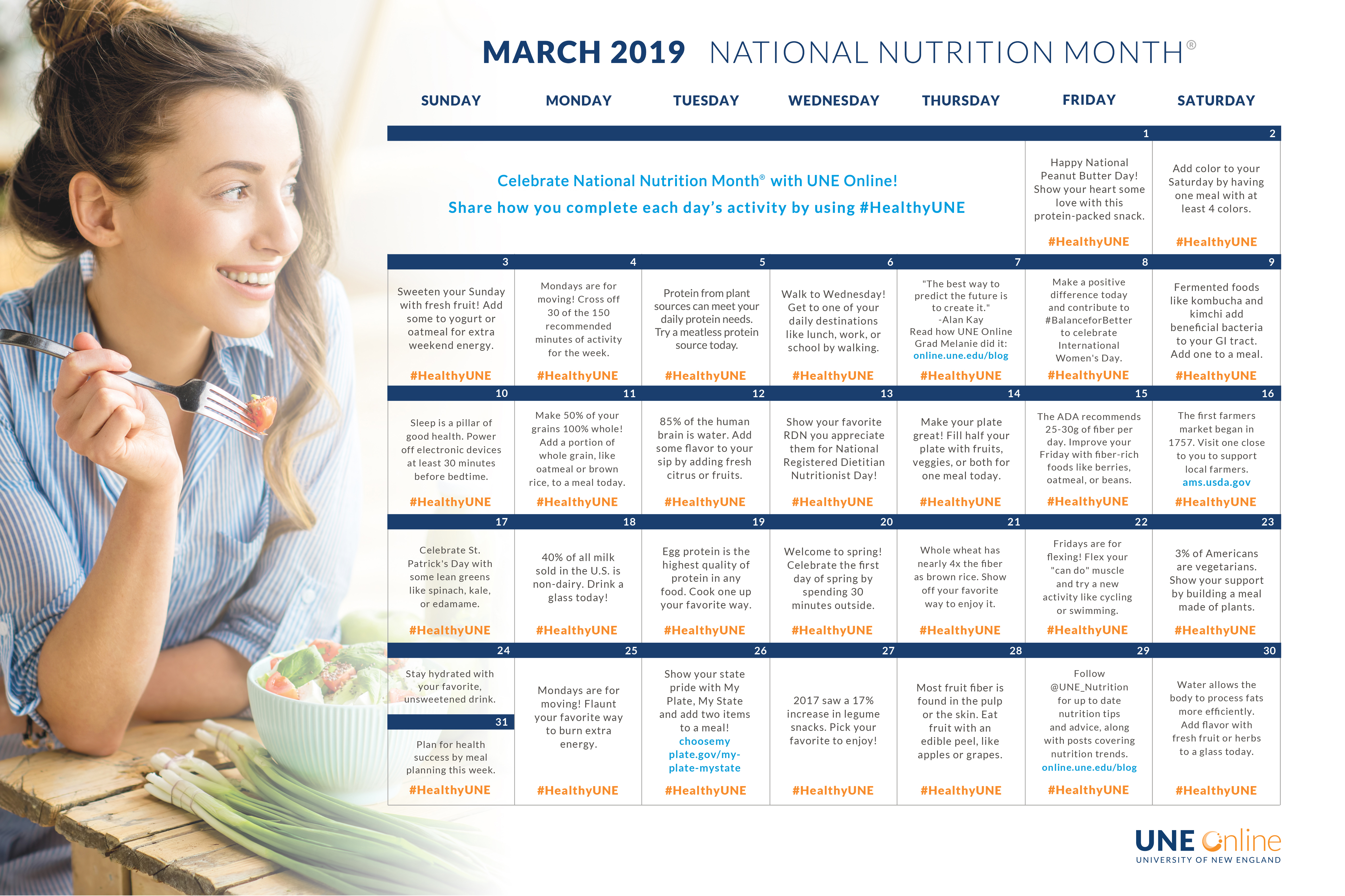 National Month Calendar 2019 Celebrate National Nutrition Month® 2019 with our Activity