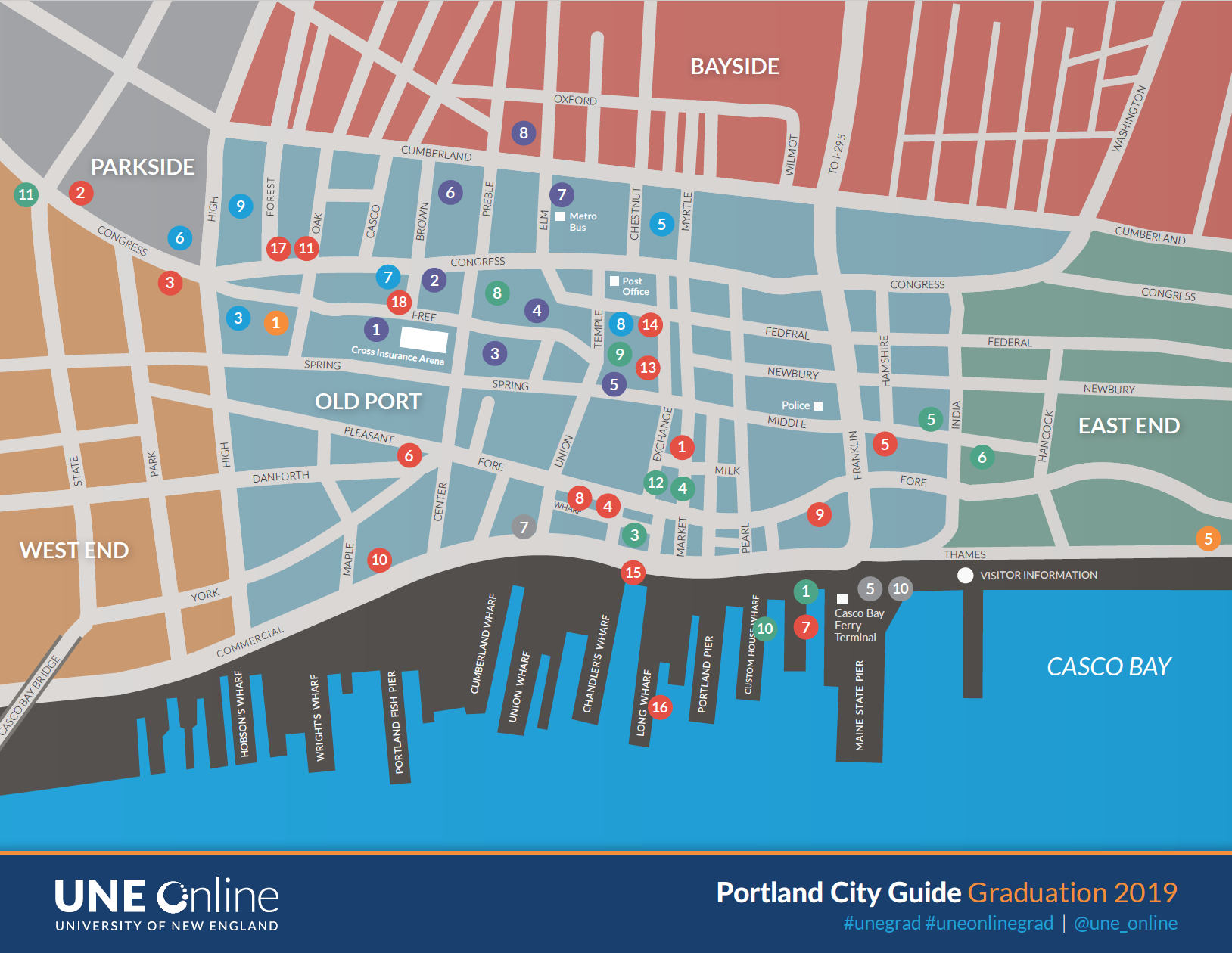 2019 UNE Online City Guide of Portland Maine