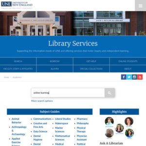 Resource Spotlight: The UNE Library!