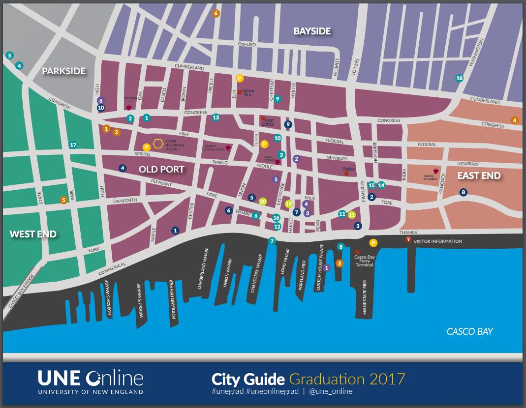 Portland Maine City Guide for UNE 2017 Graduation