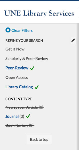 Library refine search