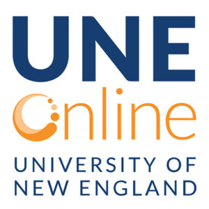 UNE Online square logo, University of New England