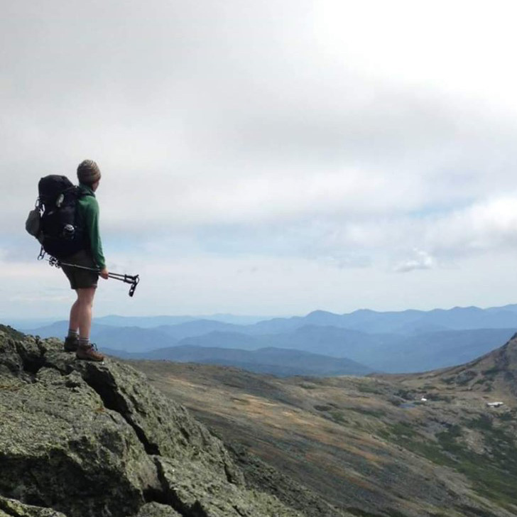 Kendall Croteau, hiking