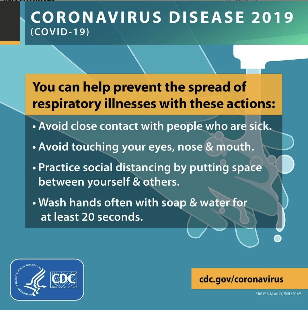 Instagram post from the Centers for Disease Control and Prevention