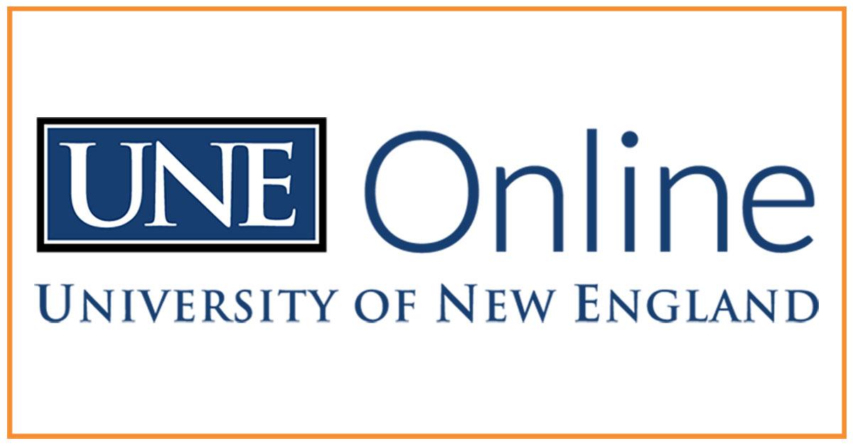 UNE Online Logo blog