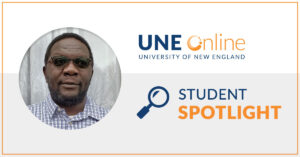 Fred Adhaya, MPH graduate and Ed.D. student at UNE Online