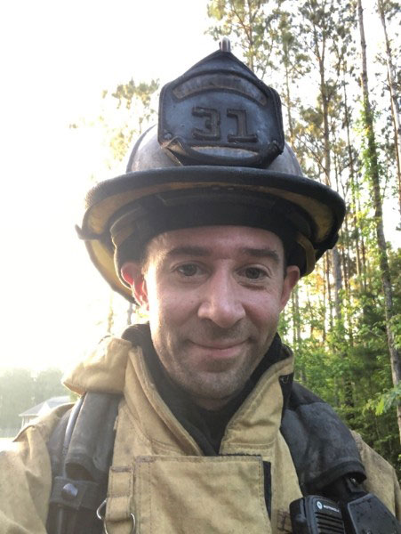 Kenneth Palmer has also been a Volunteer Firefighter with West of New Bern Volunteer Fire Department in in his free time for the past 10 years