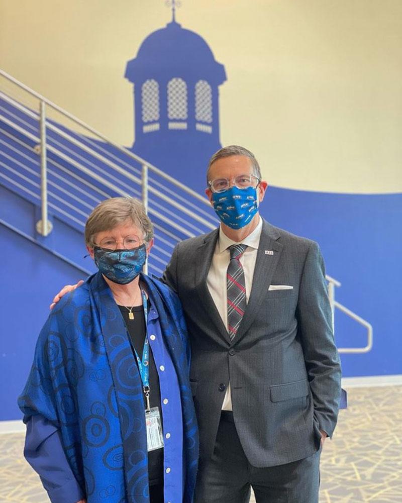 Dean of CGPS Dr. Martha Wilson and President of UNE Dr. James Herbert